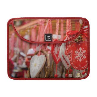 France, Alsace, Colmar. Christmas Market Sleeve For MacBooks