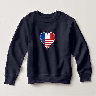France, America, the USA. Heart, Friendship, Love. Sweatshirt
