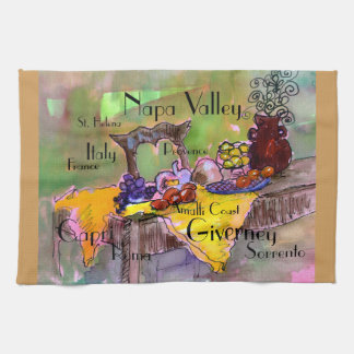 France and Italy kitchen linens, Tea Towel