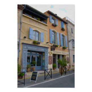 France, Arles, Provence, hotel and restaurant Print