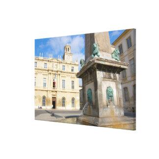 France, Arles, Provence, Place de la Canvas Print
