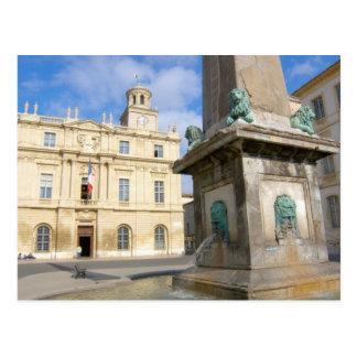 France, Arles, Provence, Place de la Postcard