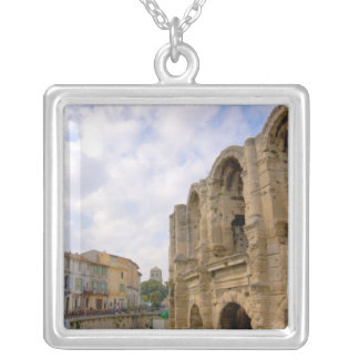 France, Arles, Provence, Roman amphitheatre Silver Plated Necklace