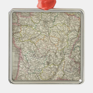 France Atlas Map 2 Christmas Ornament