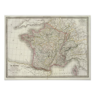 France Atlas Map 2 Poster