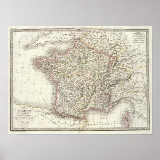 France Atlas Map 2 Poster