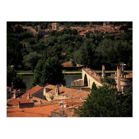 France, Avignon, Provence. Pont St, Benezet. Postcard