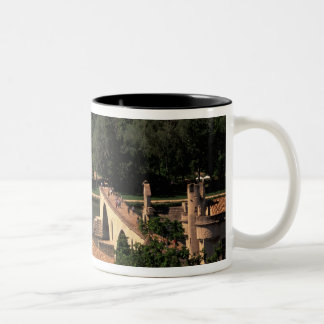 France, Avignon, Provence. Pont St, Benezet. Two-Tone Coffee Mug