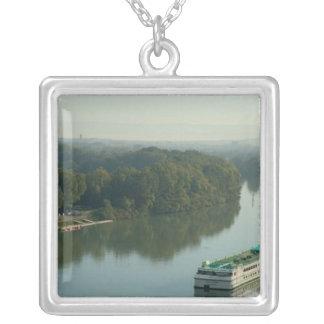 France, Avignon, Provence, Van Gogh riverboat Custom Necklace