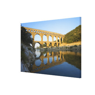 France, Avignon. The Pont du Gard Roman aqueduct Canvas Print