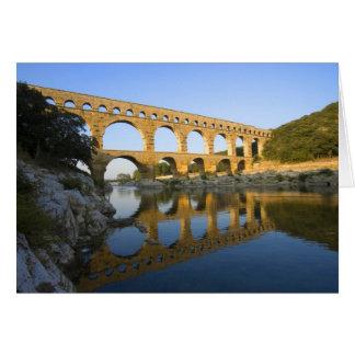 France, Avignon. The Pont du Gard Roman aqueduct Card