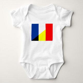 france belgium flag country symbol flag baby bodysuit
