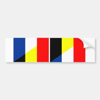 france belgium flag country symbol flag bumper sticker