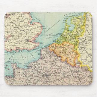 France, Belgium & Holland political Mouse Mat