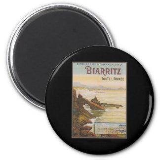 France Biarritz 6 Cm Round Magnet