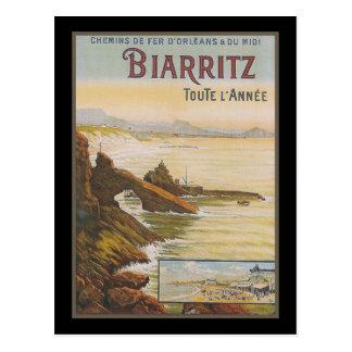 France Biarritz Postcard