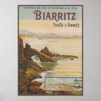 France Biarritz Poster