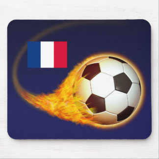 France Blazing Soccer Mouse Pad