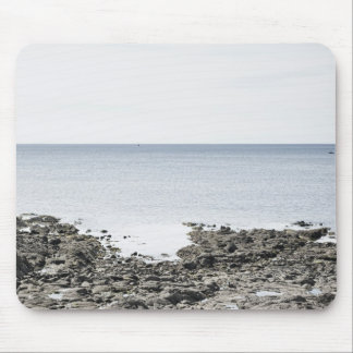 France, Brittany, Rocky beach and ocean Mouse Pad