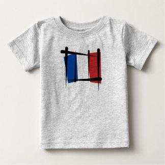 France Brush Flag Baby T-Shirt