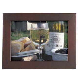 France, Burgundy, Chablis. Local wine and Keepsake Box