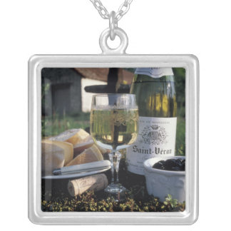 France, Burgundy, Chablis. Local wine and Jewelry