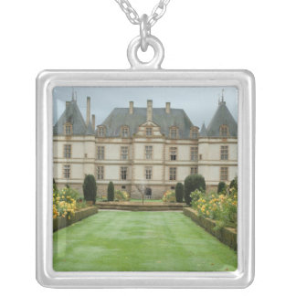 France, Burgundy, Cormatin, Chateau de Cormatin, Silver Plated Necklace