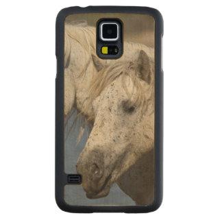 France, Camargue. Horses run through the Carved Maple Galaxy S5 Case