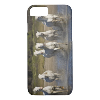 France, Camargue. Horses run through the estuary 2 iPhone 8/7 Case