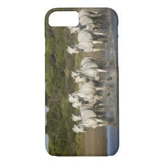 France, Camargue. Horses run through the estuary 3 iPhone 8/7 Case