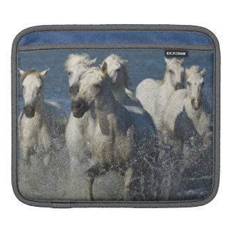 France, Camargue. Horses run through the estuary 4 iPad Sleeve