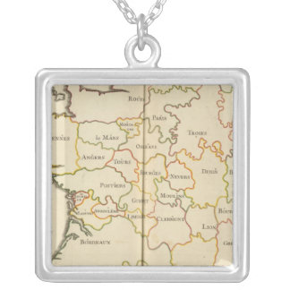 France  Capitals Silver Plated Necklace