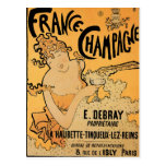 France Champagne Vintage Wine Drink Ad Art Postcards