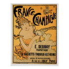 France Champagne Vintage Wine Drink Ad Art Poster
