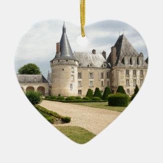 France Chateau Castle Landmark Historic Ceramic Heart Decoration