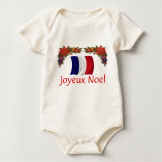 France Christmas Baby Bodysuit