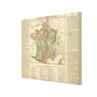 France Chronology Map Canvas Print