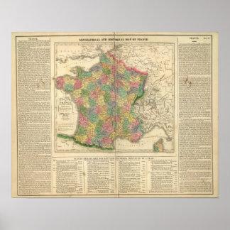 France Chronology Map Poster