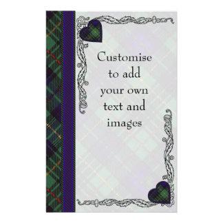 France clan Plaid Scottish kilt tartan 14 Cm X 21.5 Cm Flyer