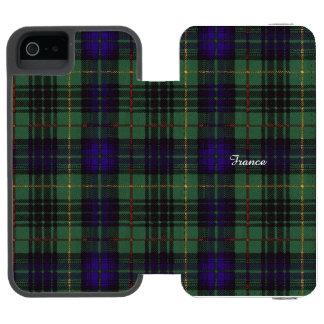 France clan Plaid Scottish kilt tartan Incipio Watson™ iPhone 5 Wallet Case