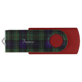 France clan Plaid Scottish kilt tartan USB Flash Drive