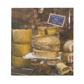 France, Corsica. Local cheeses and charcuterie Notepad