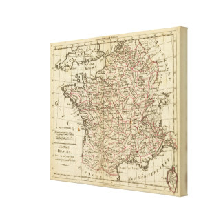 France, departemens canvas print