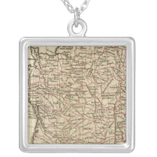 France, departemens silver plated necklace