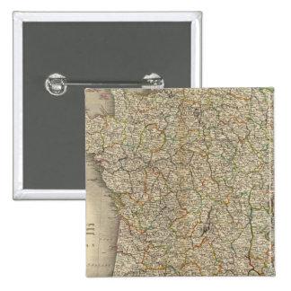France Department Boundaries 15 Cm Square Badge