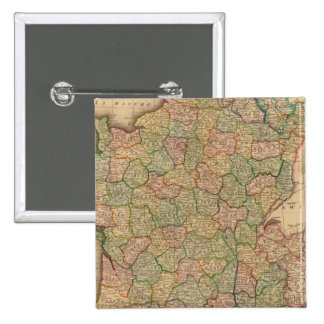 France, departments 15 cm square badge