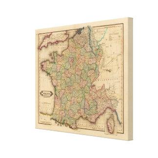 France, departments canvas print