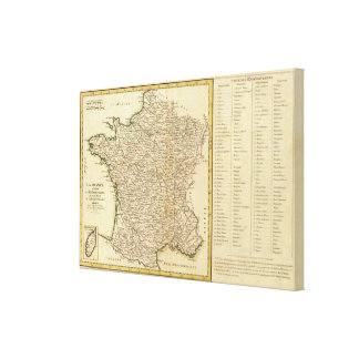 France Departments Canvas Print