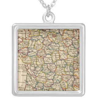 France, Departments Silver Plated Necklace