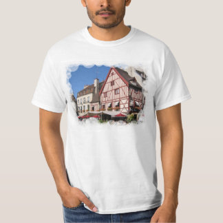 France, Dijon, half timbering in pink T-Shirt
